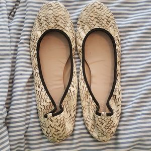 Jcrew snakeskin collection flats